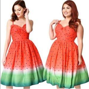 NWT Unique Vintage watermelon 🍉 novelty dress